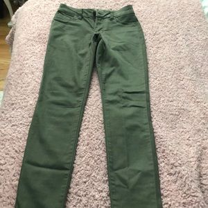 army green high waisted jeans